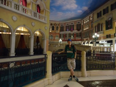 Relaxing in the Venetian in Macao before my win in the Casino!