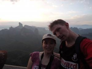 Jonny Blair and Panny Yu at Elder Peak in China