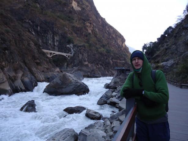 Jonny Blair hiking in Yunnan Province