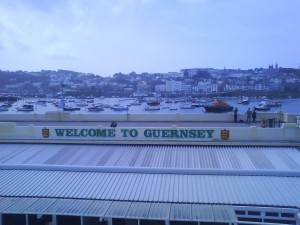 Jonny Blair arrives in Guernsey with a spear gun!