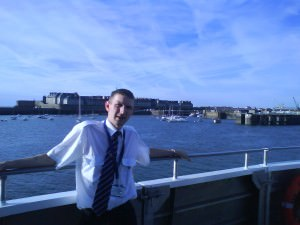 Jonny Blair working in St. Malo onboard the Condor Ferries in 2009