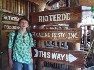 Jonny Blair at the floating restaurant we went on was called Rio Verde. Green river perhaps? No, it's the Loboc River actually!