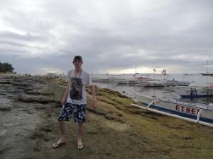 Jonny Blair living a lifestyle of travel on Balicasag Island