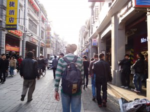 Jonny Blair loving the backpacking lifestyle in Guangzhou China