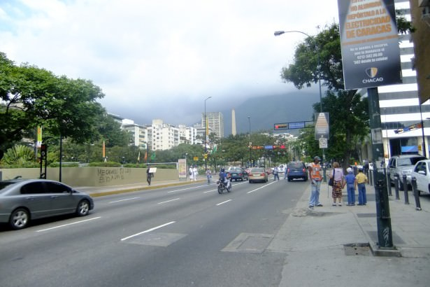 Altamira near the square in Caracas