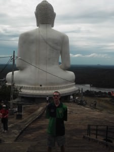 Jonny Blair at the Samade Meditation Buddha in Kurunegala