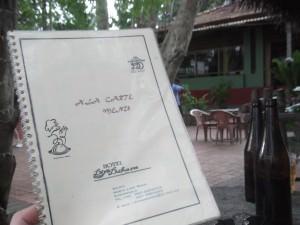 hotel menu in kurunegala sri lanka