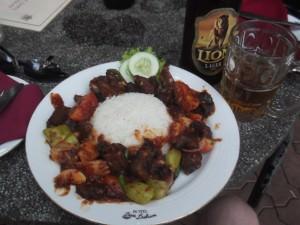 My spicy devilled beef in Kurunegala Sri Lanka