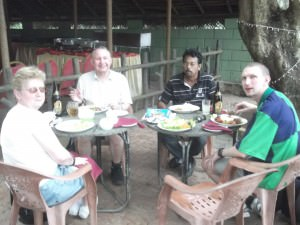 Jonny Blair with family in Kurunegala