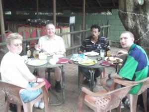 Jonny Blair with family in Kurunegala