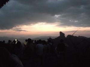 breaking sunrise in Danxia China