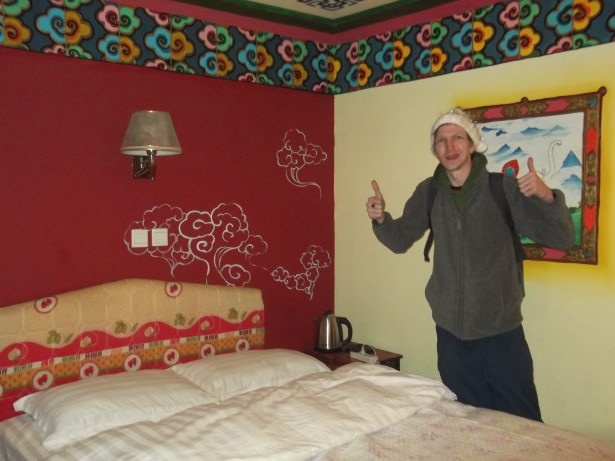 Jonny Blair at Barley Hostel in Shangri La in China