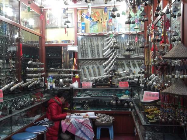 Tibetan knives in Shangri La