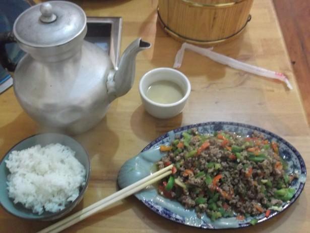 Jonny Blair ate yak meat in Shangri La