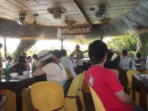 Don't Stop Living touring the Philippines at Bohol on a floating restaurant