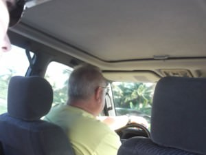 Jonny Blair in a taxi in Philippines