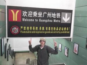 Jonny Blair in Guangzhou in China