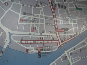 Shamian Island map in Guangzhou