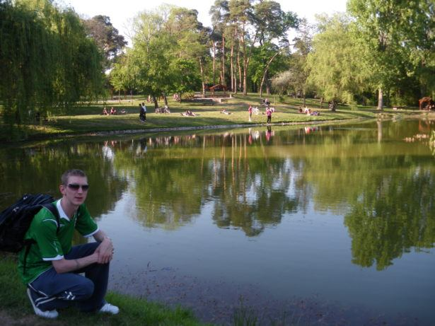 Jonny Blair relaxing by a lake in Debrecen