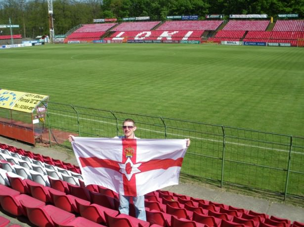 Travelling Northern Irishman in Debrecen at Loki Stadium