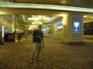 Jonny Blair in the Venetian in Macau