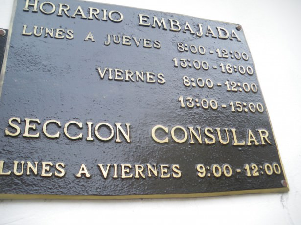 opening hours of suriname embassy in Caracas