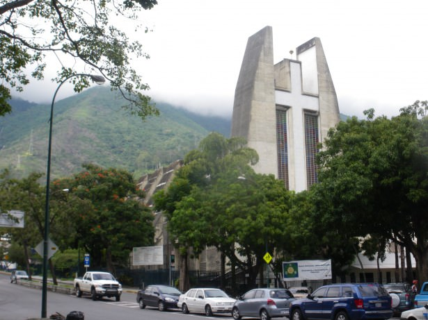 Church in Altamira in Caracas near Suriname Embassy