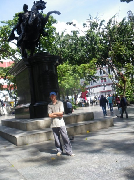 Jonny Blair at Plaza Bolivar in Caracas