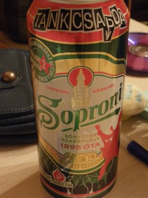 A cold Soproni beer in Debrecen Hungary