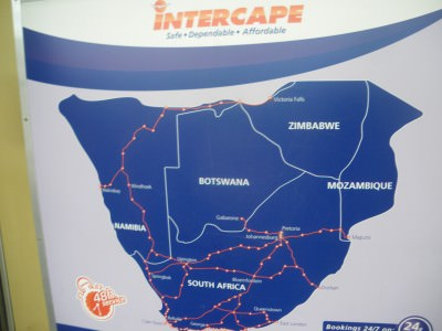 Intercape bus how to cross the border from south africa to botswana