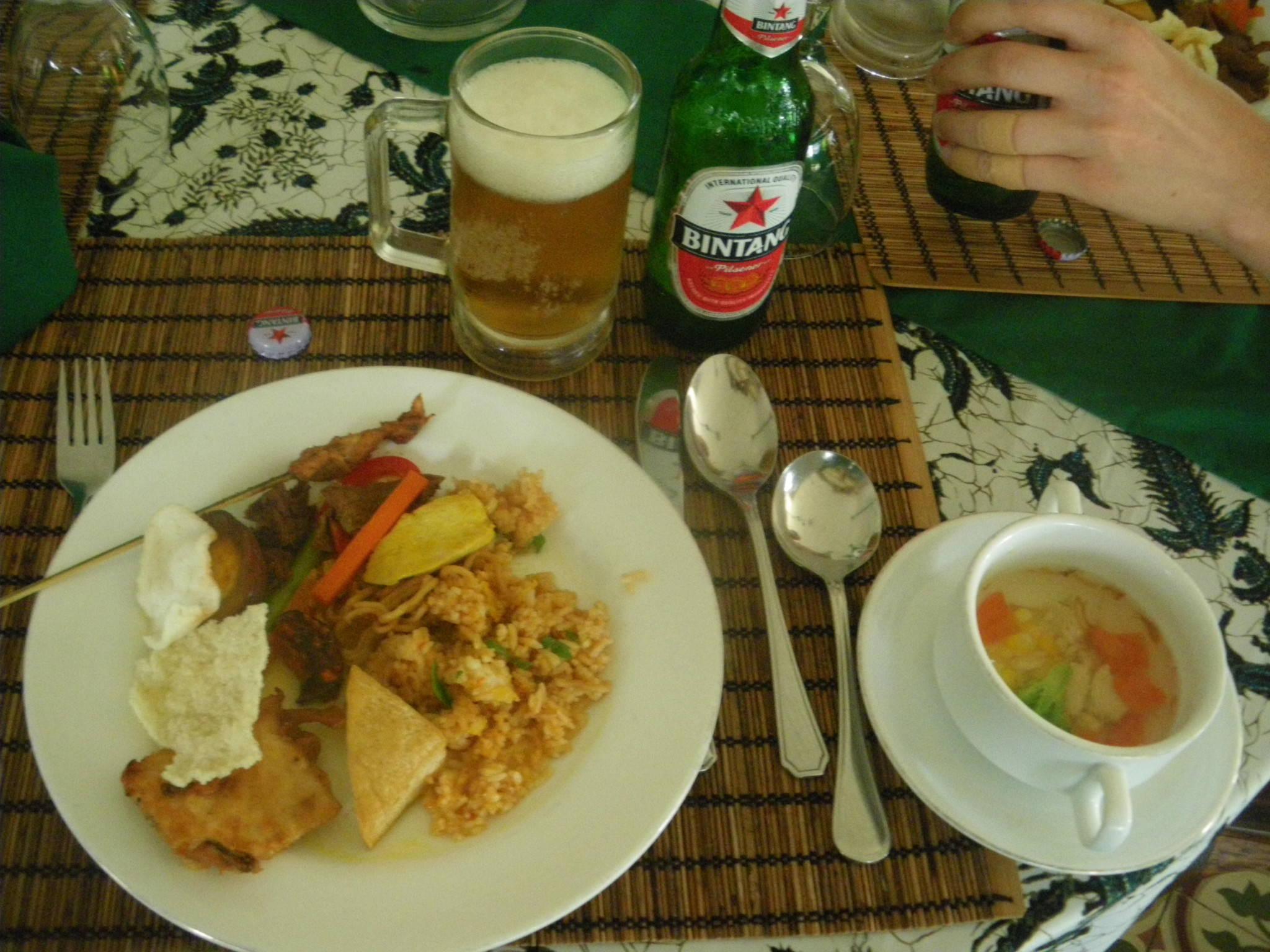 Indonesian buffet food Yogyakarta