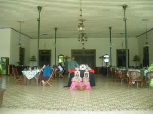 Indonesian buffet lunch in Yogyakarta