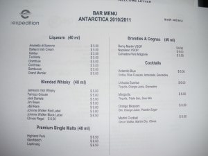 Price of alcohol in Antarctica