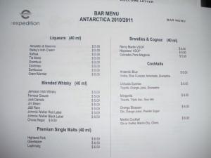 Price of alcohol in Antarctica