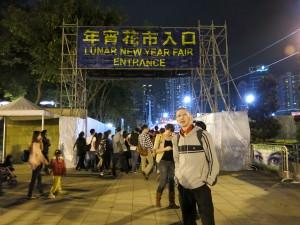 Jonny Blair of Don't Stop Living at the lunar new year fair
