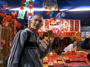Jonny Blair at a Chinese New Year Fair in Hong Kong