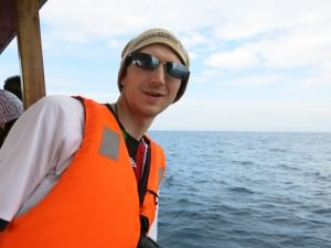 whale watching in mirissa with Jonny Blair