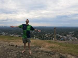Jonny Blair overlooking Kurunegala
