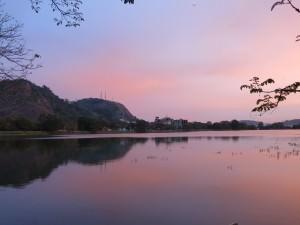 sunset in Kurunegala in Sri Lanka