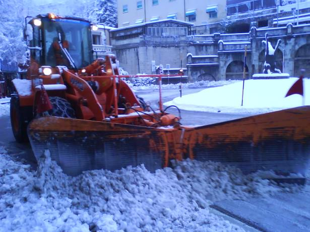 Jonny Blair at San Marino City in the snow