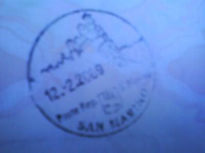 Jonny Blair's passport stamp for San Marino