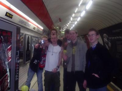 Jonny Blair in London on a pub crawl