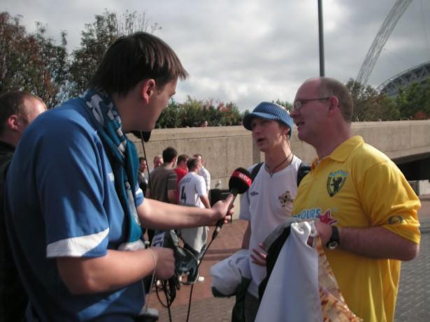 Jonny Blair and Shaun Schofield on Estonian TV