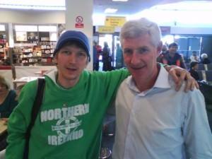 Jonny Blair travelling Northern Irishman meets Nigel Worthington