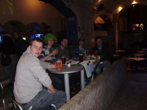 Jonny Blair and a few beers in Pisa Italy