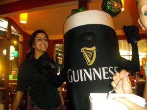 Jonny Blair dressed as a pint of Guinness