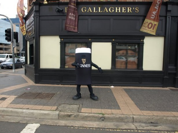 Dressed as a Guinness at PJ's Irish Pub in Parramatta