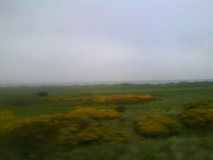 England to Scotland border countryside