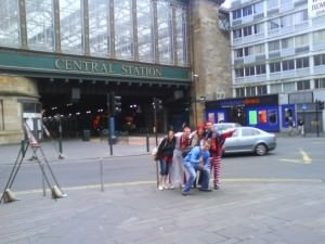 Glasgow train station Scotland to England train
