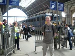 Jonny Blair at Nyugati station